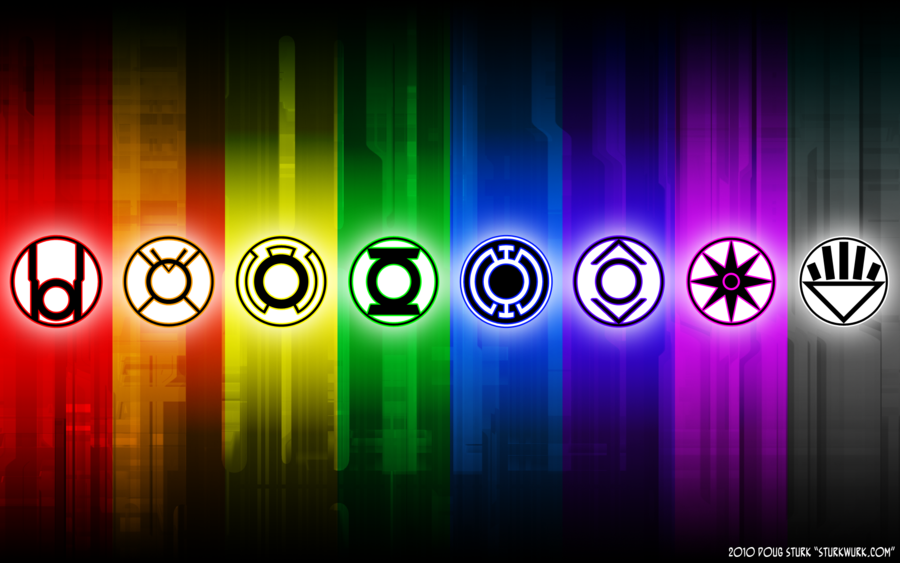 Only Green And Yellow Or All The Colors On The Lantern Corps