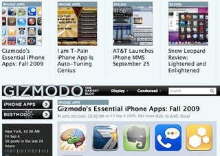 Gizmodo's Essential iPhone Apps: Fall 2009