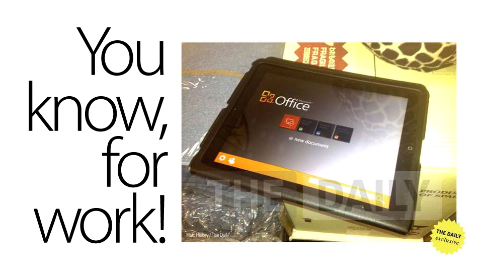 Click here to read Office for iPad Is Reportedly Imminent (Updated)