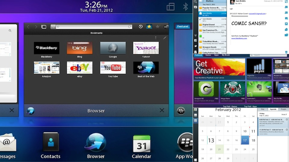 Click here to read BlackBerry PlayBook 2.0 Test Notes: Worth the Wait?