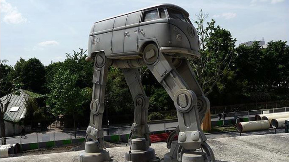 Click here to read I Want This Imperial AT-AT Volkswagen Van