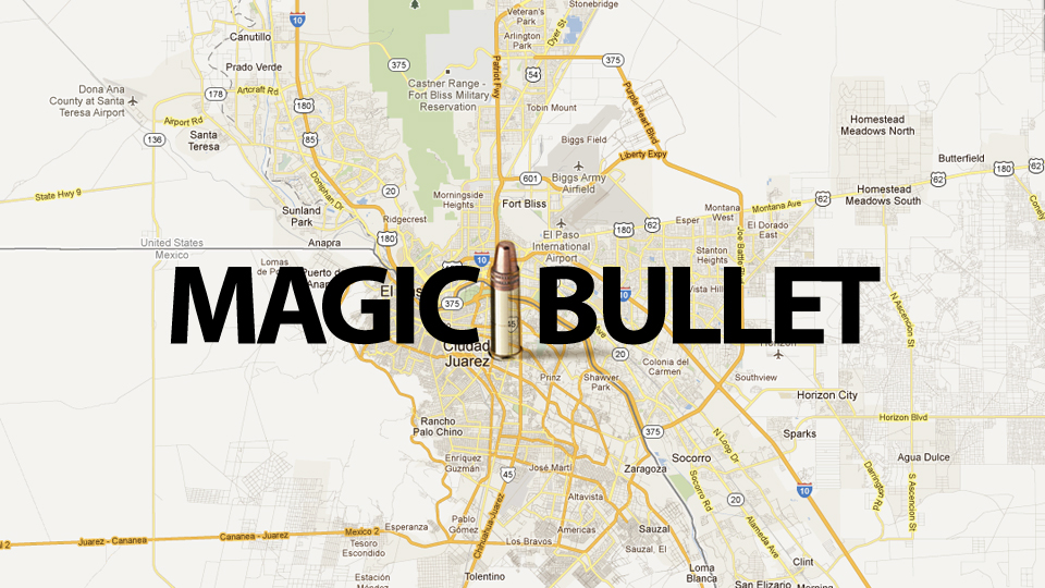 Click here to read Magic Bullet Crosses Mexican Border to Hit Woman In Texas