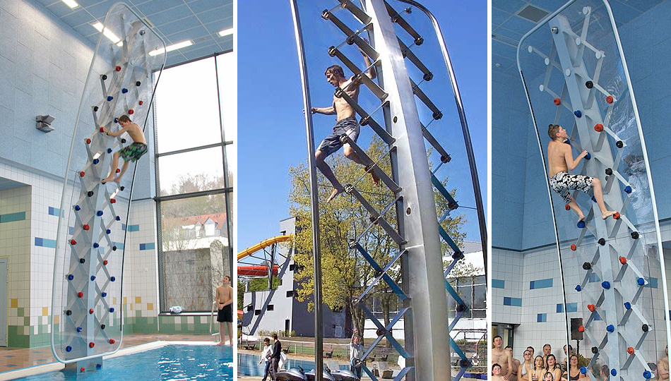 Click here to read You'll Splash, Not Crash, When You Fall Off This Climbing Wall