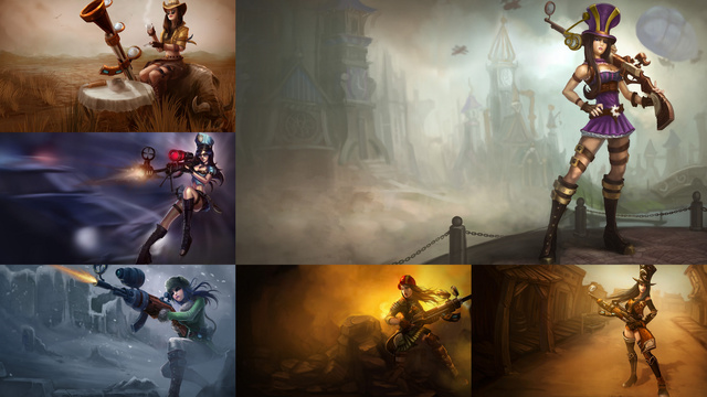 Where are the Black League of Legends Characters?