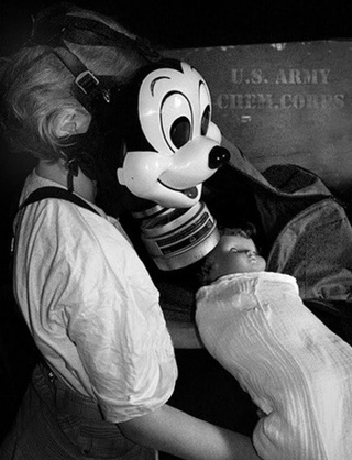 Behold, the Mickey Mouse gas mask from World War II