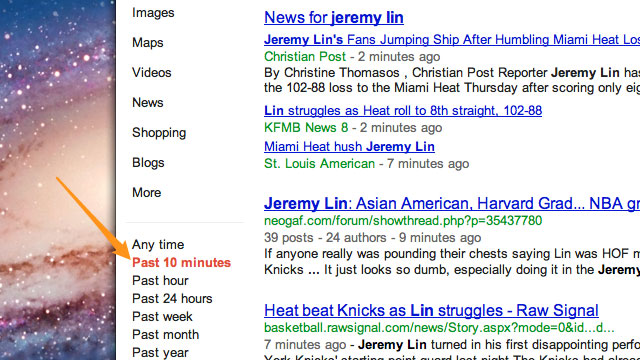 Click here to read Get Real-Time Search Results from Google with a URL Tweak
