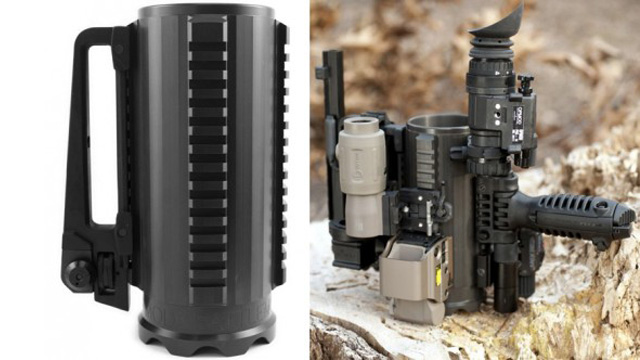Incredibly Badass Tactical Mug Lets You Strap on Spec Ops Gun Attachments While You Drink [Video]