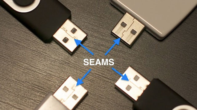 Click here to read Plug in a USB Cable The Right Way (The First Time, Every Time) by Looking at The Seam