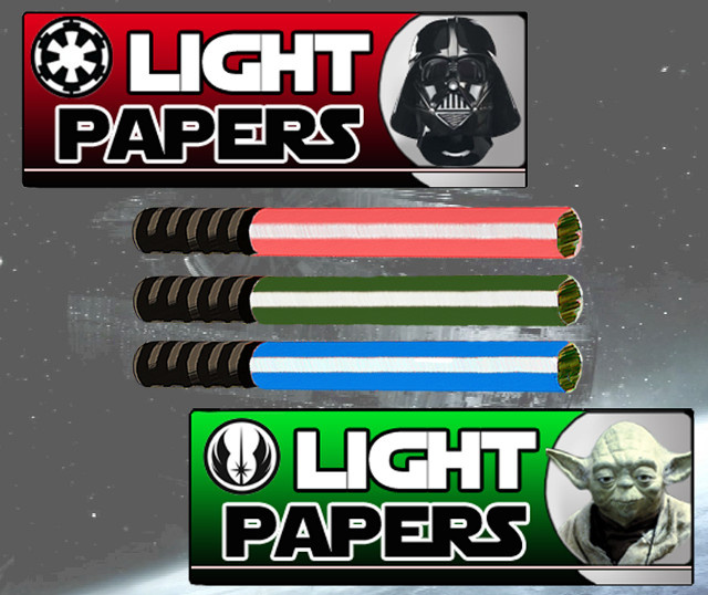 Star Wars lightsaber rolling papers, for your trip to the dark side