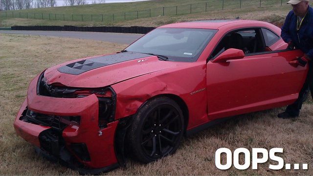The First Crash Of A Camaro ZL1