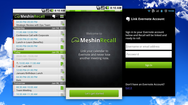 Click here to read Meshin Recall Organizes Multiple Google Calendars and Evernote in One Elegant App