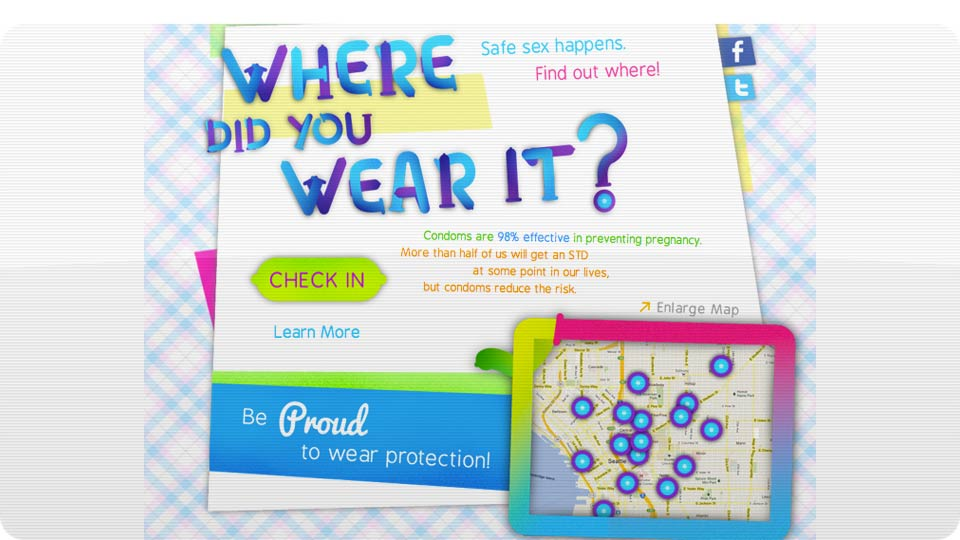 Click here to read Would You Use a Condom-Based Foursquare to Check In When You Have (Safe) Sex?