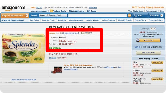 Click here to read Amazon Product Prices Get Marked Up Like Crazy to Give You Fake Savings