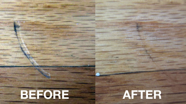 Hardwood Floor Scratch Repair note if you have prefinished flooring contact the manufacturer for repair recommendations the tough aluminum oxide finish on prefinised flooring often Iron Scratches Out Of Hardwood Floors Lifehacker Australia