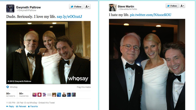 Steve Martin Pranks Gwyneth Paltrow on Twitter