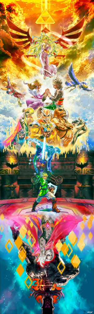 An Enormous Zelda Painting to Blow Your Socks Clean Off