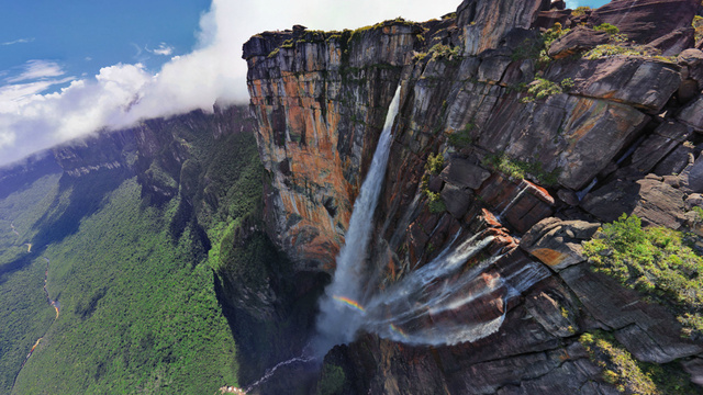 Interactive 360° aerial panorama of world's tallest waterfall is absolutely breathtaking