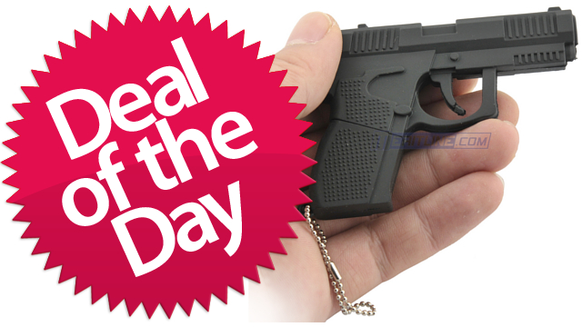 Click here to read The Gun Shaped USB Flash Drive Is Your Leave-This-Peripheral-At-Home Deal of the Day