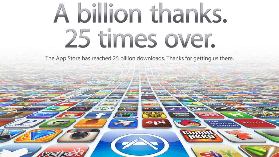 Click here to read Apple Hits 25 Billion App Store Downloads