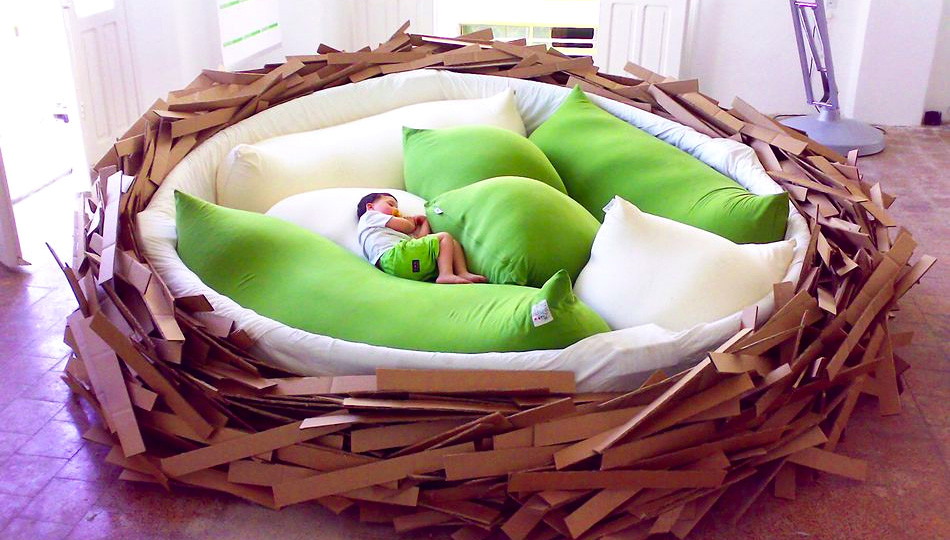 Click here to read Giant Nest Bed Fulfills All My Big Bird Fantasies