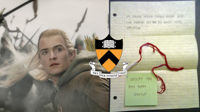 Princeton Students, Rest Easy: Your Classmate's Elven Weapon Was Returned with Runic Note