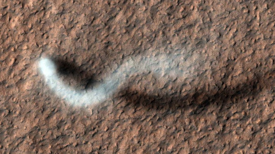 Click here to read A Ghostly Snake on Mars