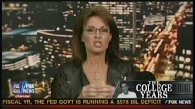 Sarah Palin's Got the Scoop on Barack Obama's Secret Slavery-Era Fantasies