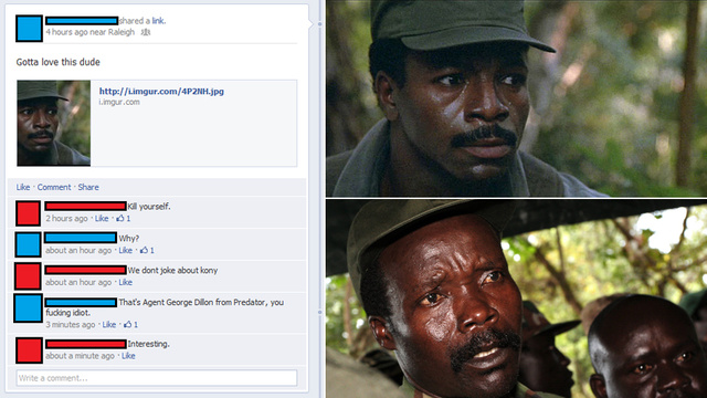 The Idiot Who Mixed Up Joseph Kony and Predator's Carl Weathers