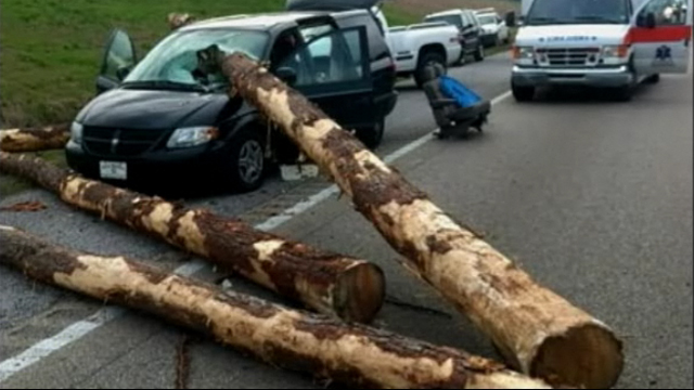 Click here to read See Frightening Pictures Of A Minivan Impaled By A Log