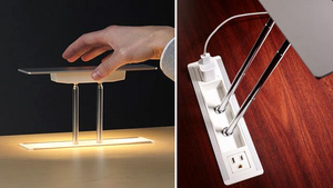 Telescoping Task Lamp Disappears Into Your Desk
