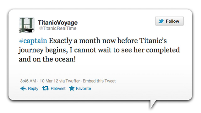 Click here to read Commemorate the 100th Anniversary of the Titanic's Sinking by Reliving it Through Twitter