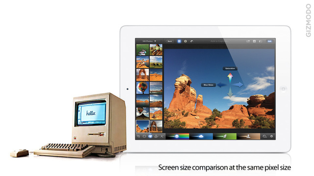 This Is How the New iPad and the Original Macintosh Screen Compare