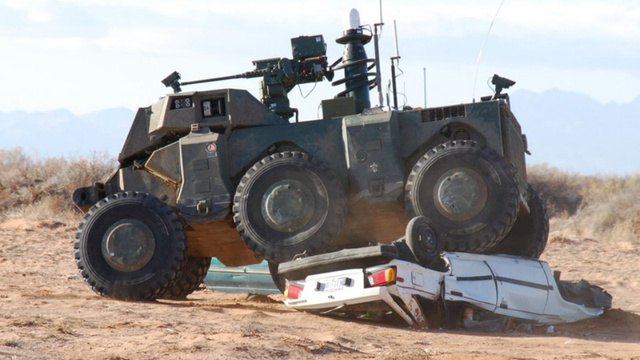 "DARPA's Crusher Drives Itself, Laughs at Your Puny ""Traffic"""