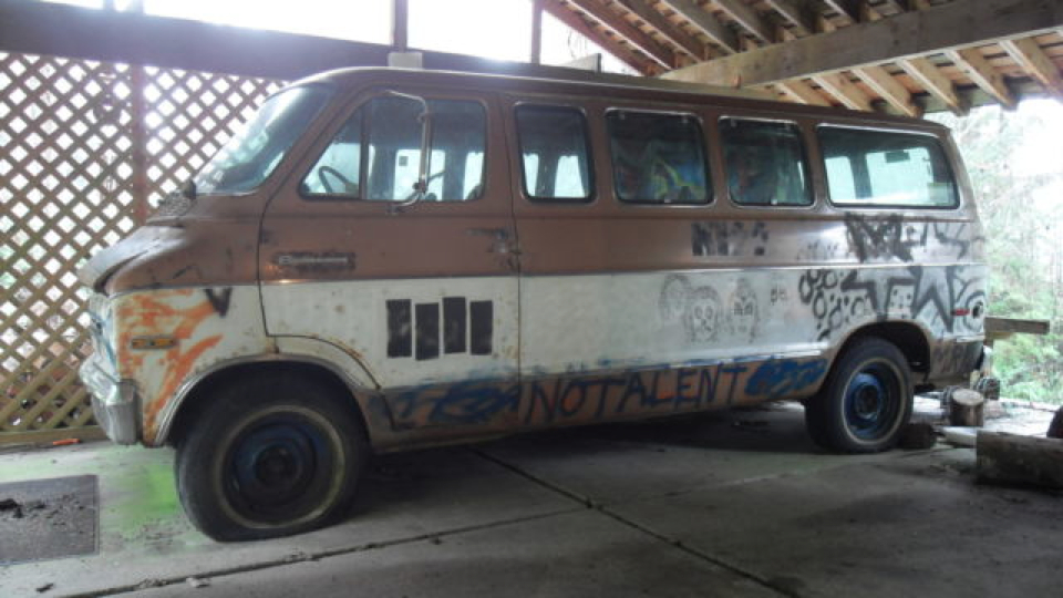 Click here to read You Can Buy The Van That Kurt Cobain Scribbled On For $100,000