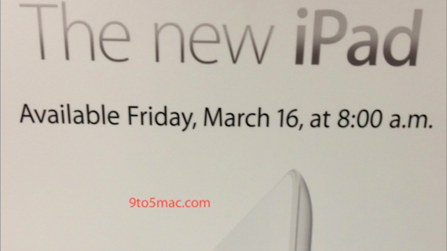 Click here to read Apple Stores Will Open at 8AM on Friday March 16th for the New iPad