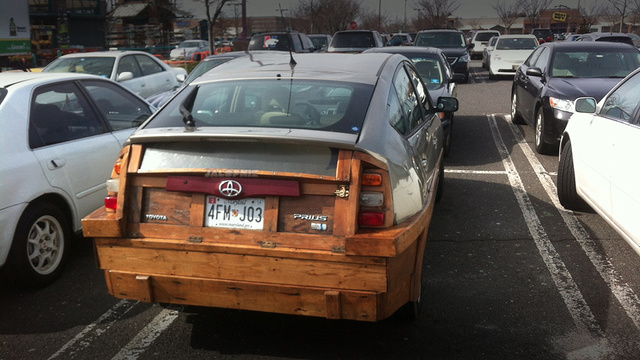 Design art furniture and architecture wooden car