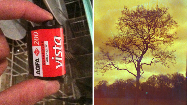 Send Your Film Through the Dishwasher For Easy Instagram-Like Effects
