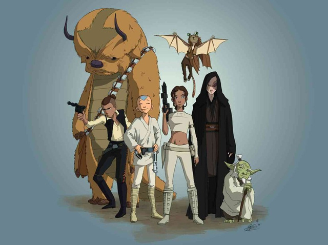 This is the Airbender/Star Wars mashup we need: Avatar Wars!