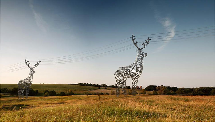 Click here to read I Wish These Deer Power Line Towers Were Real