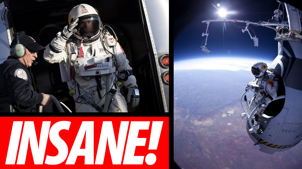 original Fearless Man Makes Successful 13 Mile Space Jump [Space]