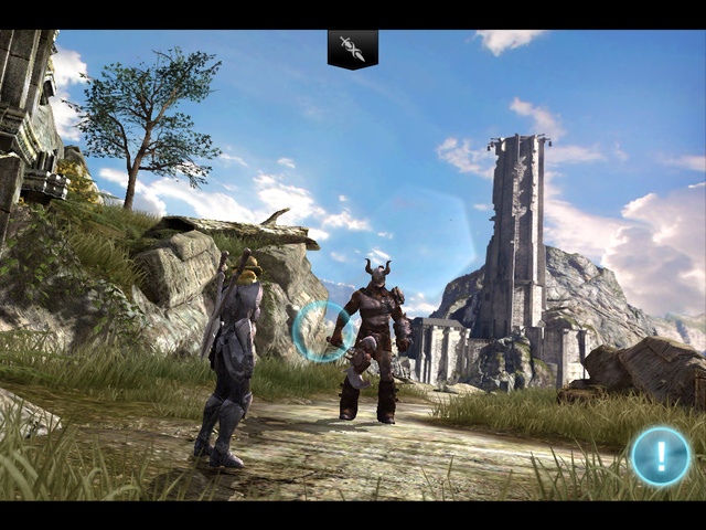 Here's Infinity Blade II Running on an iPad 2 and an iPad 3