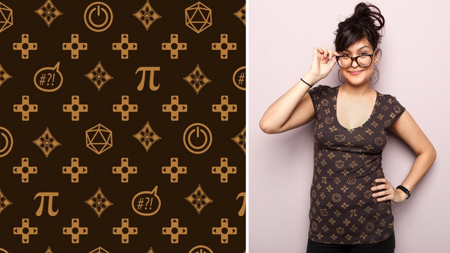 Chic Louis Vuitton For Geeks Tee