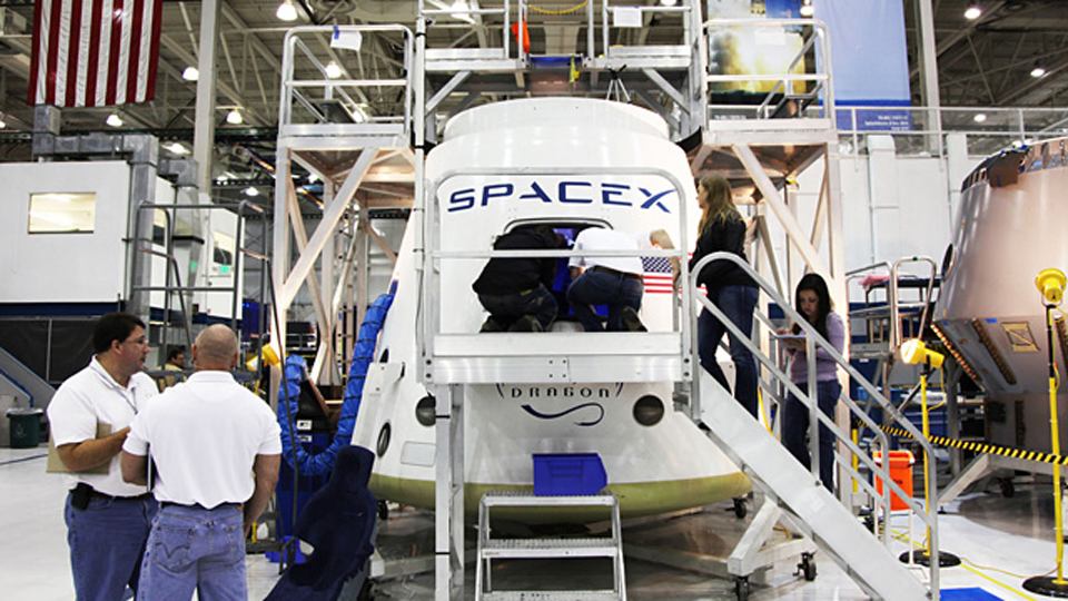 First Look Inside America's First Private Spaceship