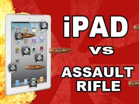 Click here to read Destroying the New iPad With an Automatic Assault Rifle Is Harder Than You Think