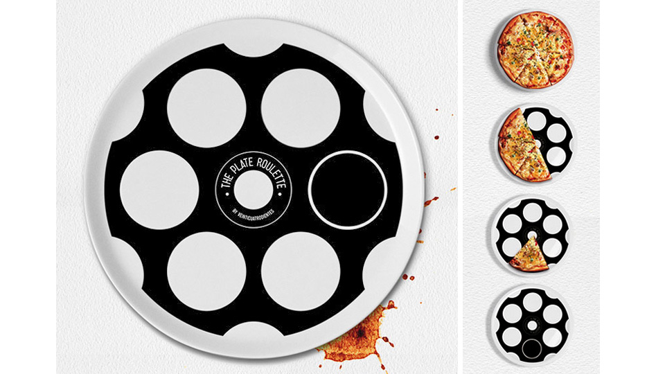 Click here to read A Quick Game Of Plate Roulette Decides Who Pays For Pizza