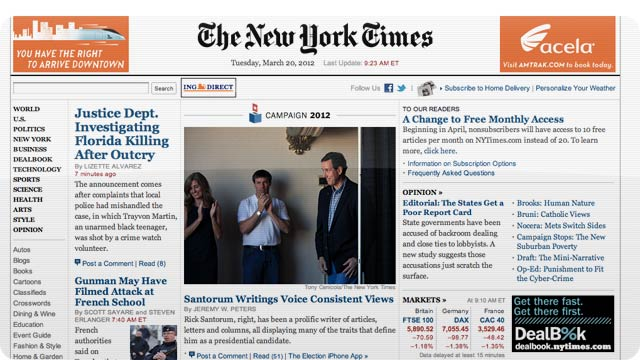Click here to read The New York Times Is Making Its Paywall Even Stricter and Its Website Harder to Read for Free