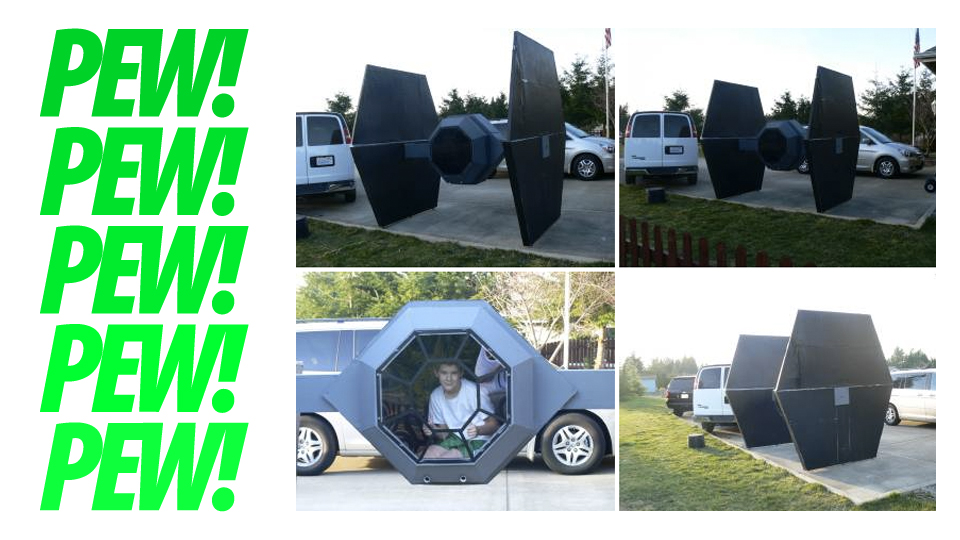 Click here to read Giant TIE Fighter For Sale. Fits Real Pilot. Fires Party Poppers. $150 or Best Offer