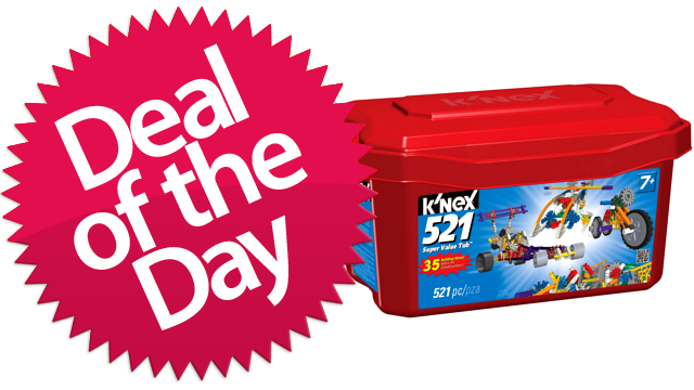 This K'nex Value Tub Is Your Creative-Childhood-Memory Deal of the Day [Dealzmodo]