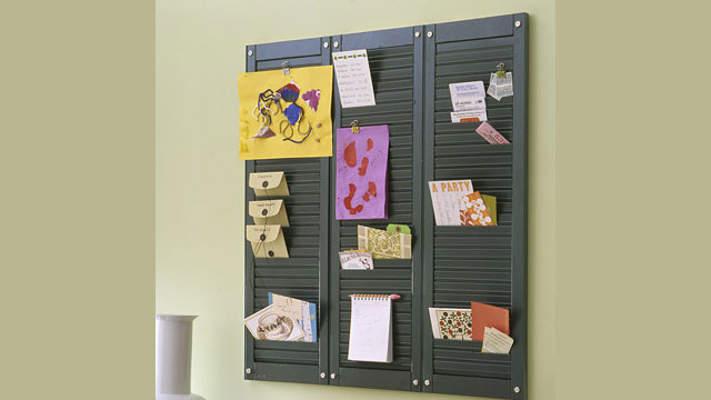Click here to read Turn Wooden Shutters into a Multi-Pocket Wall Organizer