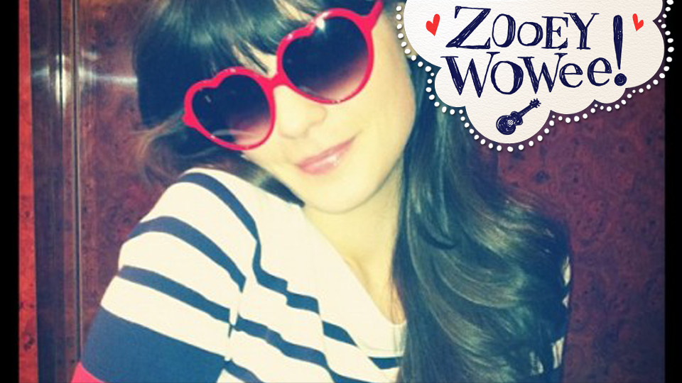 Click here to read Zooey Deschanel Wears Shirt